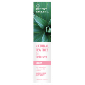 Tea Tree Toothpaste Ginger 185 ML - Desert Essence
