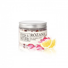 Różana sól do kąpieli 500g - Fresh & Natural